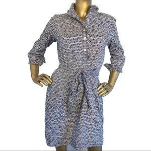 Lilly Pulitzer Berkley Navy White Shirt Dress Sz 4